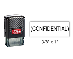 """This Shiny 851 1st Checks CONFIDENTIAL stock stamp comes in black only! Refillable & durable. Impression size: 3/8"""" x 1"""". Free shipping over $45!"""