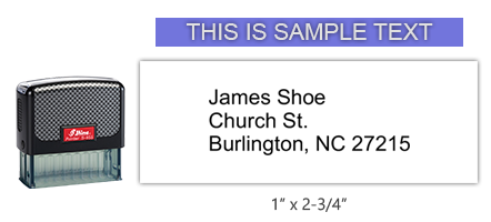 """This Shiny 855 1st Checks Supervisor Address custom stamp comes in black only! Refillable & durable. Impression size: 1"""" x 2-3/4"""". Free shipping over $45!"""
