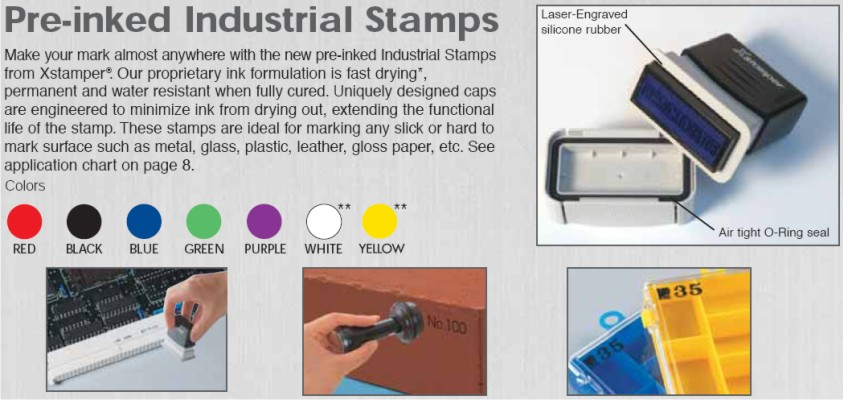 Xstamper F-Series Industrial Stamps