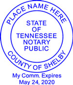 Tennessee Notary Embossing Seal