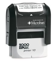 Self Inking Address Rubber Stamps With Free Logo Art, Free Ink   color choice and Free Shipping Only At RubberStampchamp.com