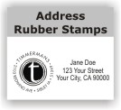 Address & Monogram Rubber Stamps