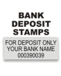 Bank Deposit Stamps. Office Supply Rubber Stamps. Deposit Only Bank Stamps. Check Stamps. Secure Ordering. Free Shipping. RubberStampChamp.com