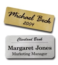 Name Badges Metal