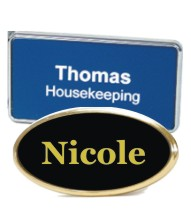 Name Badges Plastic with Frame