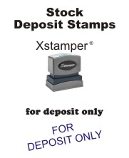 Stock Deposit Rubber Stamps