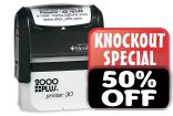Cosco® 2000 Plus Self Inking Stamps. Customize online at no extra charge. 11 ink colors. Knockout Prices and Free Shipping at RubberStampChamp.com.