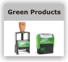 Green Eco Rubber Stamps
