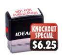 Self-Inking Rubber Stamps. Customize with text or custom artwork at no extra charge! 11 ink colors. Volume discounts. Secure order online. Knockout Prices and free shipping.