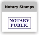 Notary Rubber Stamps and Supplies