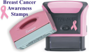 Rubber Stamps Supporting Breast Cancer Awareness