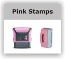 Pink Rubber Stamps