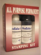 All Purpose, photo and fabric ink kits come with a stamp pad, ink and reactivator to rejuvenate the pad if it becomes dry. Ships in 1 business day with free shipping on orders over $10!