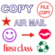 Stock Message Rubber Stamps