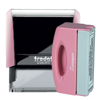 Pink Rubber Stamp