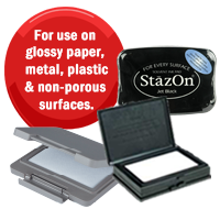 Stamp Pads for Glossy and Non-Porous Surfaces