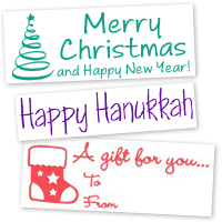 Holiday Stock Message Stamps