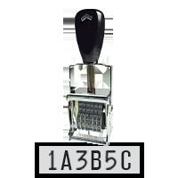 Comet Custom Number Stamps