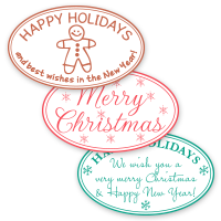 Oval Holiday Self-Inking Stamps