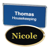 Custom Plastic Name Badges with Frame