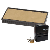 This replacement pad comes in your choice of 11 ink colors! Fits the MaxStamp model M40 self-inking locking stamp. Orders over $45 ship free!