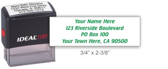 Ideal 4913 return address self-inking stamp in your choice of 11 ink colors. Fast and free shipping on orders over $10