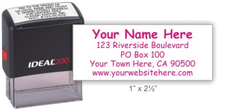 Ideal 4914 return address self-inking stamp in your choice of 11 ink colors. Fast and free shipping on orders over $10.