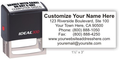 Ideal 4926 return address self-inking stamp in your choice of 11 ink colors. Fast and free shipping on orders over $10.