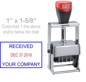 Customize free in your choice of 11 ink colors.  Ships in 1-2 business days and free shipping over $10!  Top quality Cosco Expert 3160 metal date stamp.