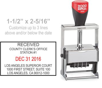 Customize free in your choice of 11 ink colors.  Ships in 1-2 business days and free shipping over $10!  Top quality Cosco Expert 3660 metal date stamp.