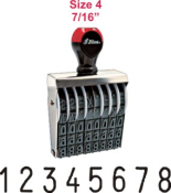 Numberers, Automatic Numbering Machines.  Stock and custom numberers. Rubber Stamp Champ offers Knockout Prices on number stamps.