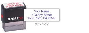 Ideal 4911 return address self-inking stamp in your choice of 11 ink colors. Fast and free shipping on orders over $10