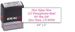 Ideal 4912 return address self-inking stamp in your choice of 11 ink colors. Fast and free shipping on orders over $10.