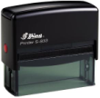 Customize free with text or your logo in your choice of 11 ink colors.  Ships in 1-2 business days and free shipping on orders over $10.  Top quality Shiny S-833 self-inking stamp.
