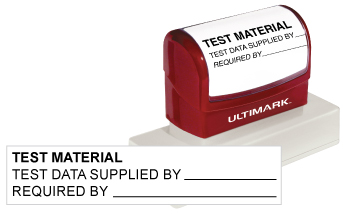 Stamp a perfect impression every time with top quality Ultimark UM-14 pre-inked stamps in your choice of 11 ink colors.  Customize online and get free shipping on orders over $10!