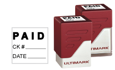 Stamp a perfect impression every time with top quality Ultimark UM-25SQ square pre-inked stamps in your choice of 11 ink colors.  Customize online and get free shipping on orders over $10!