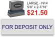 DEPOSIT-STOCK, LARGE2 - Xstamper N-14 Stock Large Deposit-2
