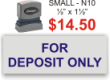 Customize your bank endorsement stamp and get free shipping on orders over $25! Top quality pre-inked stamp lasts 10,000 impressions before you need to re-ink! Small 3 deposit stamp