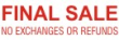 Order Final Sale No Exchange self-inking stock message stamp at $8.88 each in your choice of 11 ink colors. Hundreds of stock messages to choose from or customize your own.  Free shipping on orders over $10!