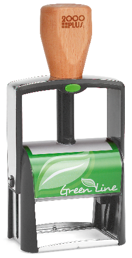 Self-inking Cosco Green Line rubber stamps from rubberStampchamp[.com, with free full customization with your art and text...FREE!