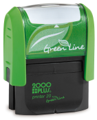 Customize free with text or your logo in your choice of 11 ink colors.  Ships in 1-2 business days and free shipping on orders over $10.  Top quality Cosco GLP20 eco self-inking stamp.