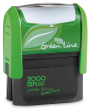 Customize free with text or your logo in your choice of 11 ink colors.  Ships in 1-2 business days and free shipping on orders over $10.  Top quality Cosco GLP30 eco self-inking stamp.