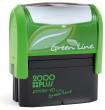 Customize free with text or your logo in your choice of 11 ink colors.  Ships in 1-2 business days and free shipping on orders over $10.  Top quality Cosco GLP40 eco self-inking stamp.