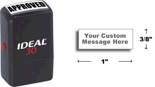 Ideal® Custom Self Inking rubber stamps at Knockout Prices from Rubber Stamp Champ.  Shop RubberStampChamp.com for EZ-ordering, fast service and Knockout Prices on Self-Inking Rubber Stamps.