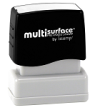 Permanent multi-surface IS-09 pre-inked rubber stamp quick dries on glossy paper, CDs, metal, plastic and more.  Free Shipping on order over $10.
