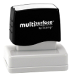 Permanent multi-surface IS-12 pre-inked rubber stamp quick dries on glossy paper, CDs, metal, plastic and more.  Free Shipping on order over $10.