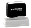 Permanent multi-surface IS-14 pre-inked rubber stamp quick dries on glossy paper, CDs, metal, plastic and more.  Free Shipping on order over $10.