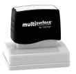 Permanent multi-surface IS-16 pre-inked rubber stamp quick dries on glossy paper, CDs, metal, plastic and more.  Free Shipping on order over $10.