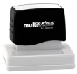 Permanent multi-surface IS-22 pre-inked rubber stamp quick dries on glossy paper, CDs, metal, plastic and more.  Free Shipping on order over $10.