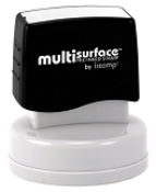 Permanent multi-surface IS-53 pre-inked rubber stamp quick dries on glossy paper, CDs, metal, plastic and more.  Free Shipping on order over $10.